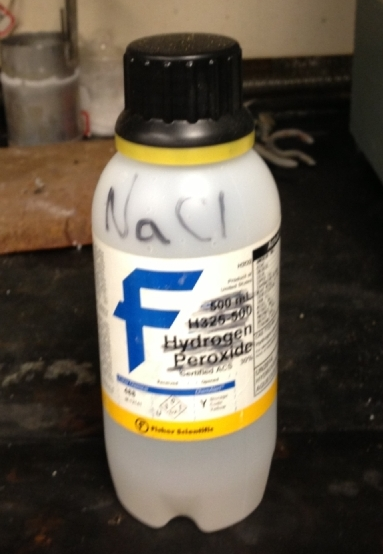 Unacceptable labeling for chemical safety.