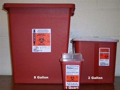 sharps container sizes